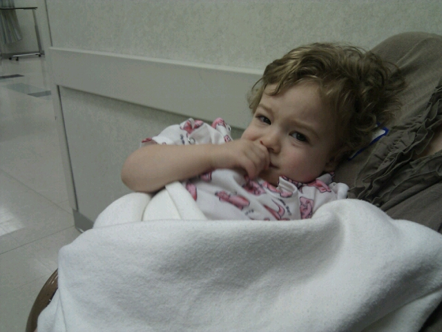 The day Caleb had tubes put in his ears