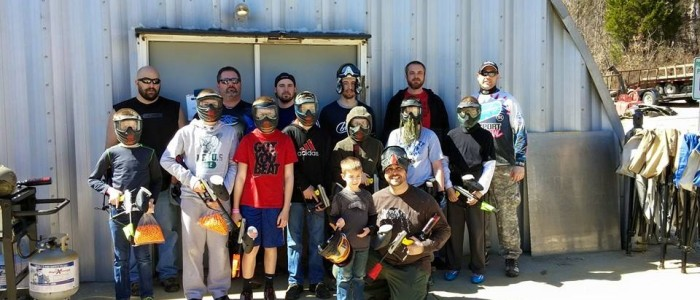 Party time at Conder's Paintball